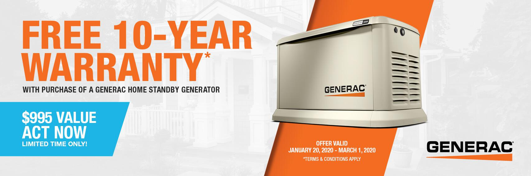 Homestandby Generator Deal | Warranty Offer | Generac Dealer | Chardon, OH